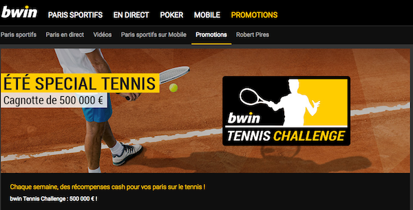 Parions tennis Bwin
