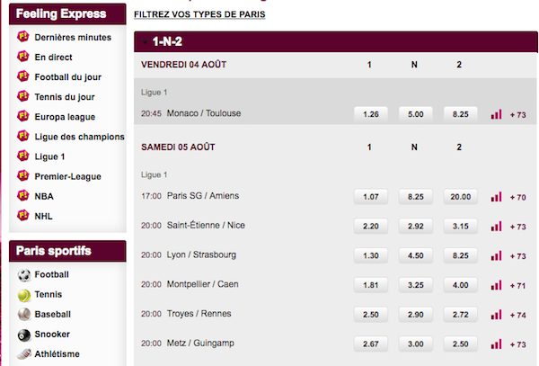 Feelingbet Ligue 1 pari