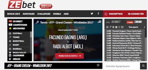 pari en ligne Wimbledon ZEbet
