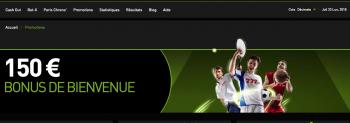 150 euros de bonus de bienvenue pour vos paris sportifs chez Bet 777