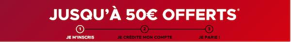 50 euros de bonus pour vos paris sportifs chez Betclic en ligne