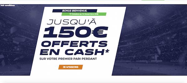 150 euros de bonus pour vos paris sportifs chez bookie ParionsSport !