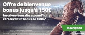 Gagnez le montant maximum de 150 euros de bonus chez Betway