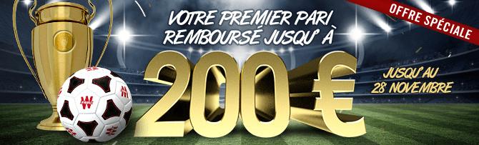200 euros de bonus pour votre premier pari chez Winamax maintenant !