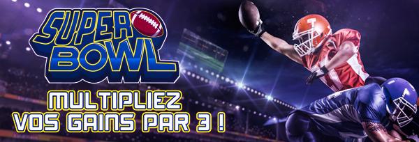 Triplez vos gains pour les mises sur le Super Bowl chez Winamax en ligne