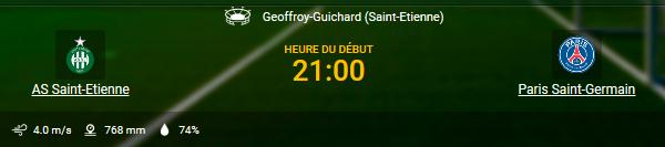 Profitez des cotes pour ASSE - PSG en Ligue 1 chez 1xBet en ligne