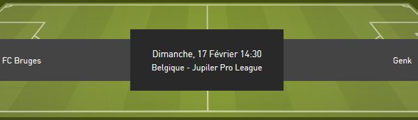 Bruges contre Genk et les cotes formidables chez bookmaker Bet 777