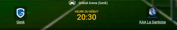 Racing Genk contre La Gantoise dans les Play-Offs chez 1xBet en ligne
