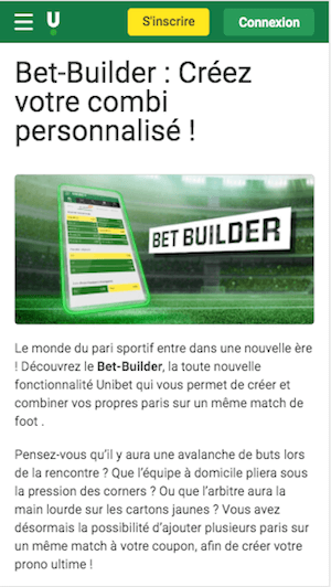 Unibet bet builder  mobile