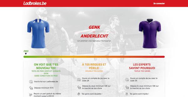 cote boost Genk vs Anderlcht