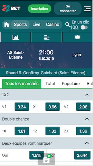 parier St etienne Lyon