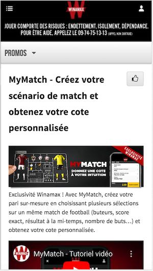 Winamax MyMatch