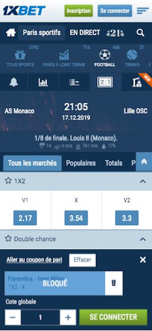 Parier Monaco Lille