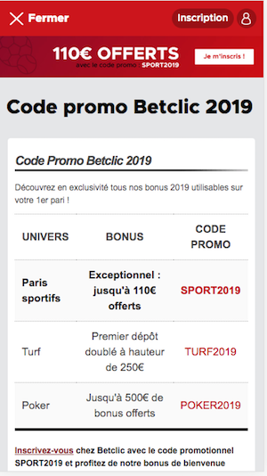 Betlic code promo