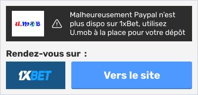 umob pour 1xbet paypal
