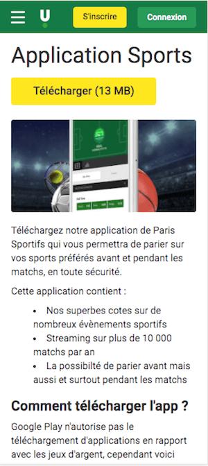 telecharger unibet app