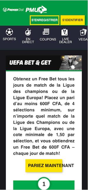 premier bet promo ligue champion uefa