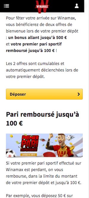 winamax bonus