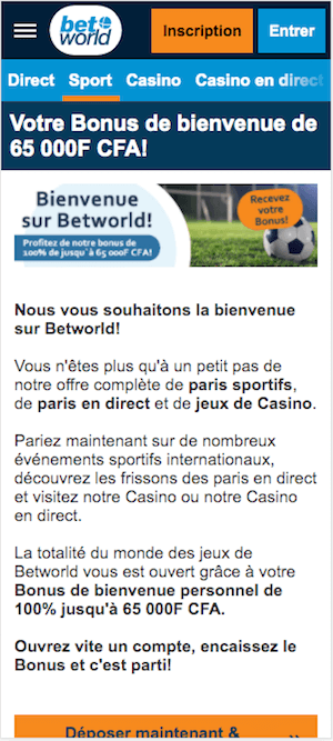 betworld bonus