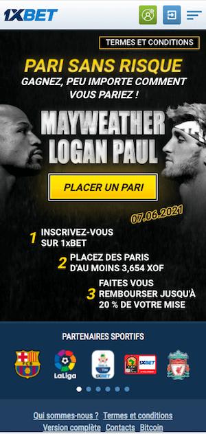 promo paris sportif mayweather vs logan