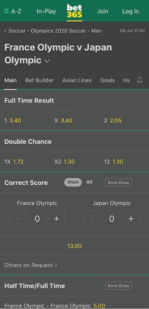 cotes france vs japon
