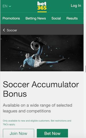 bet365 promo accumulateur